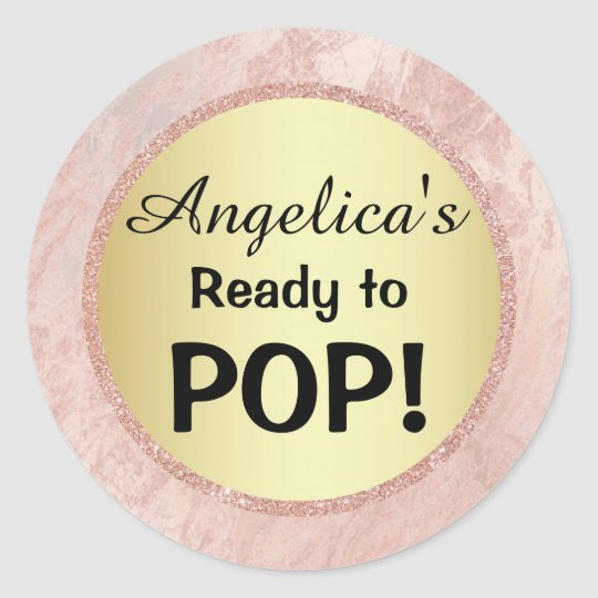 Elegant Ready to Pop Baby Shower Gold Pink