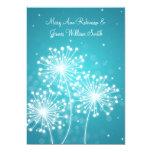 Elegant  Reception Summer Sparkle Turquoise 13 Cm X 18 Cm Invitation Card