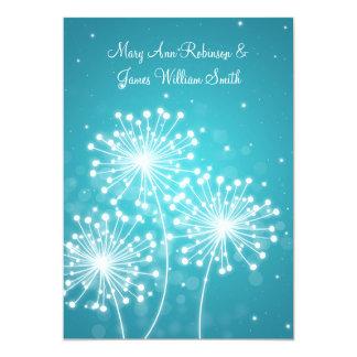 Elegant  Reception Summer Sparkle Turquoise Card