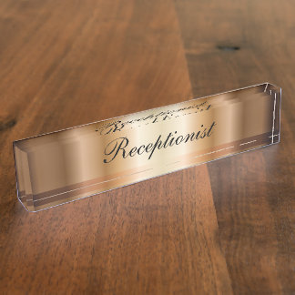Elegant Receptionist Desk Name Plate