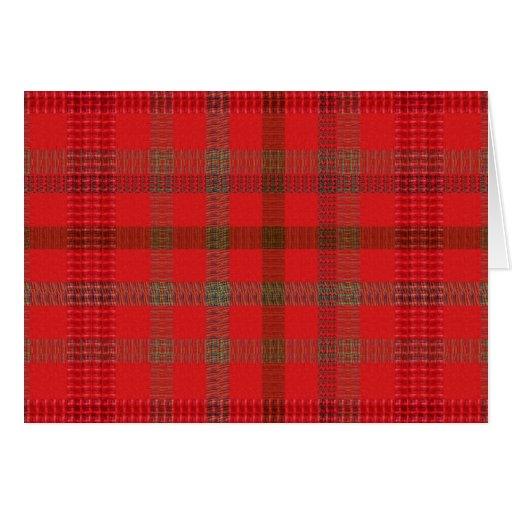 Elegant RED Checks : Warm Energy ART lowprice stor Cards
