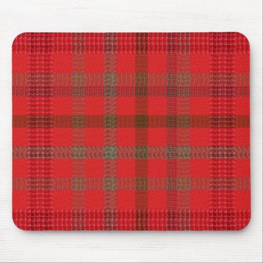Elegant RED Checks : Warm Energy ART lowprice stor Mousepad