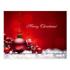 Elegant Red Christmas Candle OrnamentGreeting Card