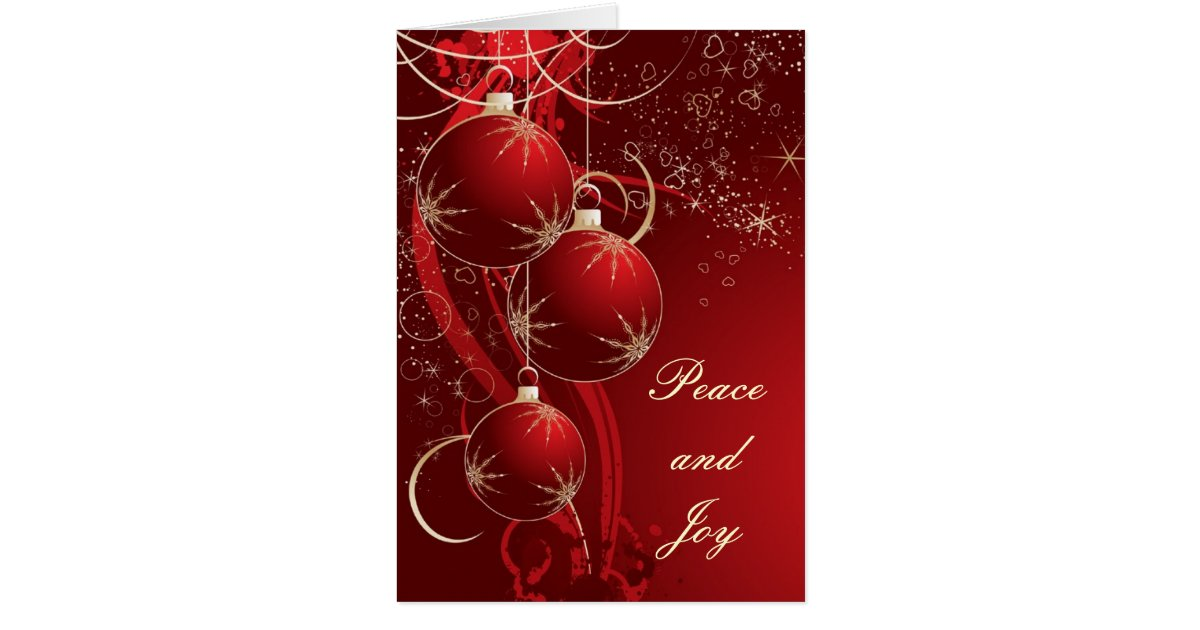 Elegant Red Christmas Card | Zazzle.co.uk
