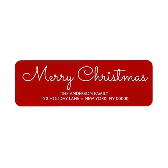 Elegant red Christmas Fun Return Address Label