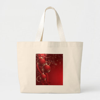 Elegant Red Christmas Large Tote Bag