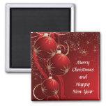 Elegant Red Christmas Magnets