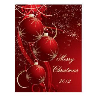 Elegant Red Christmas Postcard