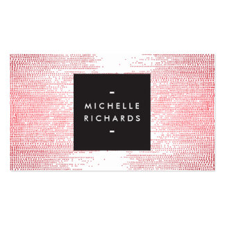 Elegant Red Confetti Dots on White Pack Of Standard Business Cards