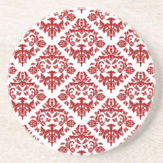Elegant Red Damask Coaster