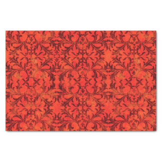 Elegant Red Damask Tissue Paper