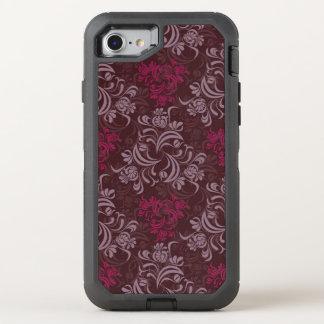 Elegant red floral Pattern OtterBox Defender iPhone 8/7 Case