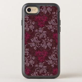 Elegant red floral Pattern OtterBox Symmetry iPhone 8/7 Case