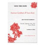 Elegant Red Floral Wedding invites 13 Cm X 18 Cm Invitation Card