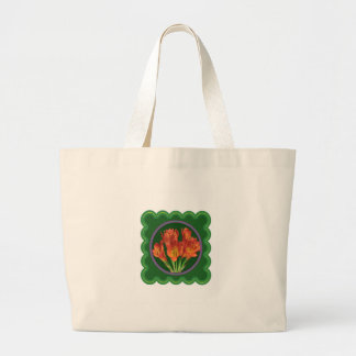 Elegant Red Flower Floral Bouquet 100 gifts Jumbo Tote Bag