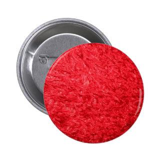 Elegant Red Fur 6 Cm Round Badge