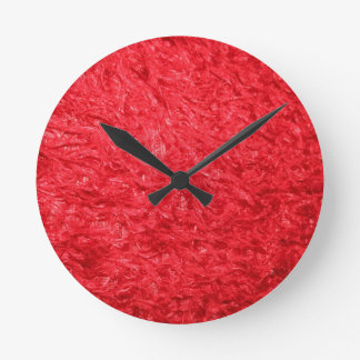 Elegant Red Fur Clock