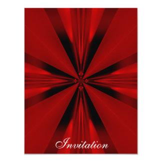 Elegant Red Geo Shapes on Silver White 2 11 Cm X 14 Cm Invitation Card