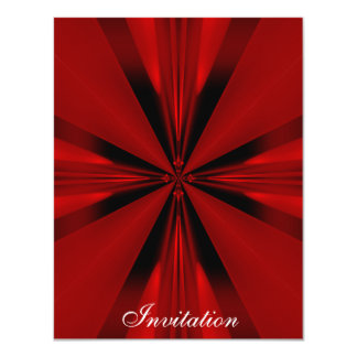 """Elegant Red Geo Shapes on Silver White 2 4.25"""" X 5.5"""" Invitation Card"""
