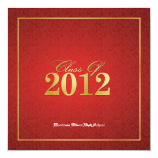 Elegant Red & Gold Class of 2012 Announcements