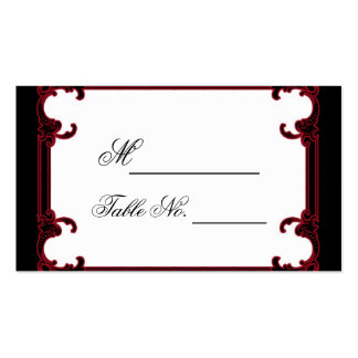 Elegant Red Gothic Frame Wedding Place Card Pack Of Standard Business Cards