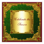 Elegant Red Green Gold Christmas Party