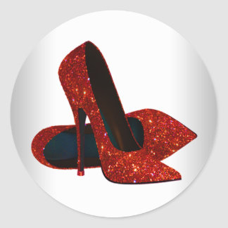 Elegant Red High Heel Shoe Stickers