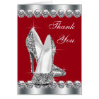 Elegant Red High Heel Shoe Thank You Cards
