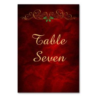 Elegant Red Holly Christmas Card