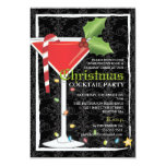 Elegant Red Martini Christmas Cocktail Party Personalised Invite