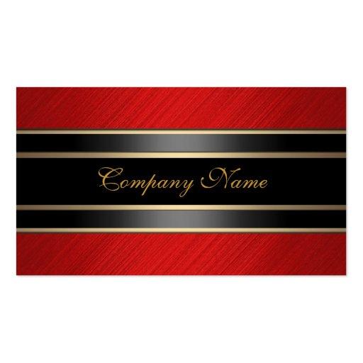 Elegant Red Metal Black Bronze Business Card Templates