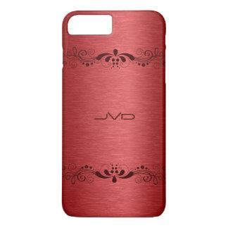 Elegant Red Metallic Texture Red Lace iPhone 7 Plus Case