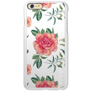 Elegant Red & Peach Roses Pattern