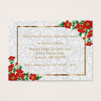Elegant Red Poppy Flowers - Wedding