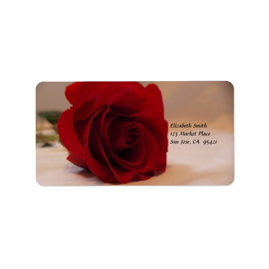 Elegant Red Rose Address label