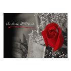 Elegant Red Rose Black and White Wedding Invitation