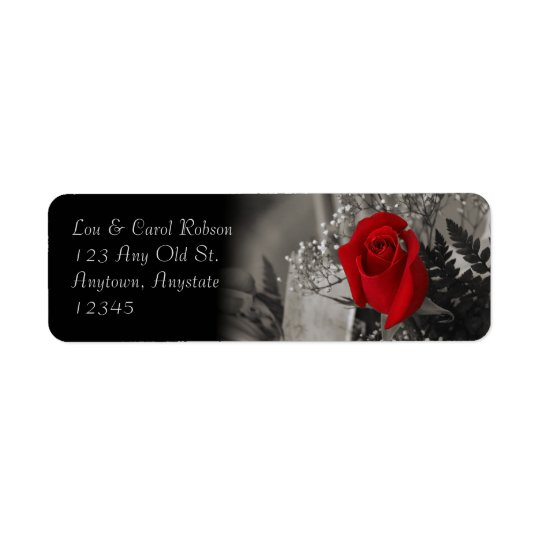 Elegant Red Rose Fade Out Black and White