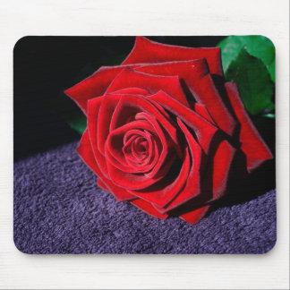Elegant Red Rose Mouse Pad