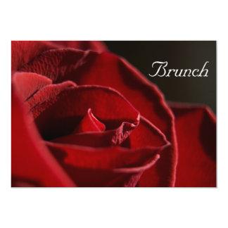 Elegant Red Rose Post Wedding Brunch Invitation