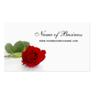 Elegant Red Rose Professional Red and White Floral Pack Of Standard Business Cards