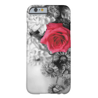 Elegant Red Rose with Black & White background Barely There iPhone 6 Case