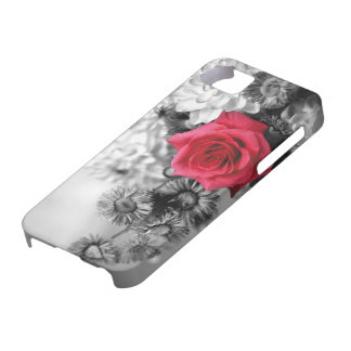 Elegant Red Rose with Black & White background iPhone 5 Cover