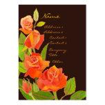 Elegant Red Roses Business Cards