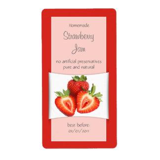 Elegant Red Strawberry Label