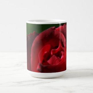 Elegant Red Velvet Rose Basic White Mug