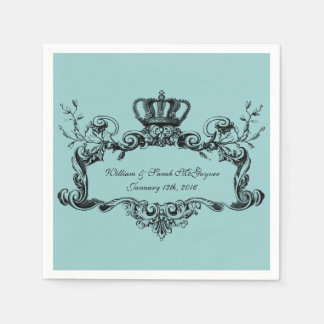 Elegant Regal Wedding Paper  Napkins Paper Napkin