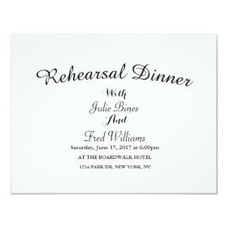 Elegant Rehearsal Dinner Invitation