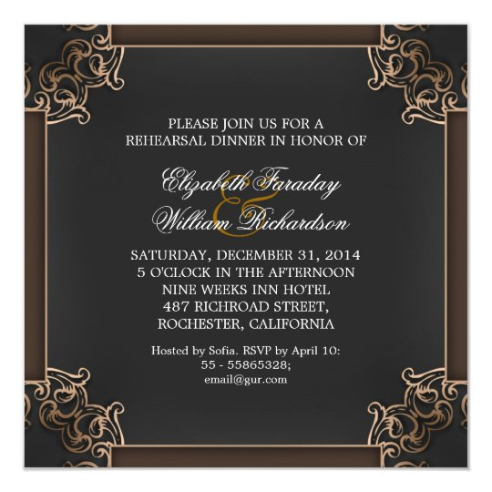 elegant rehearsal dinner invitations