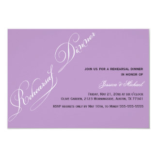Elegant Rehearsal Dinner Violet Invitation