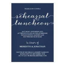 Elegant Rehearsal Luncheon Cards